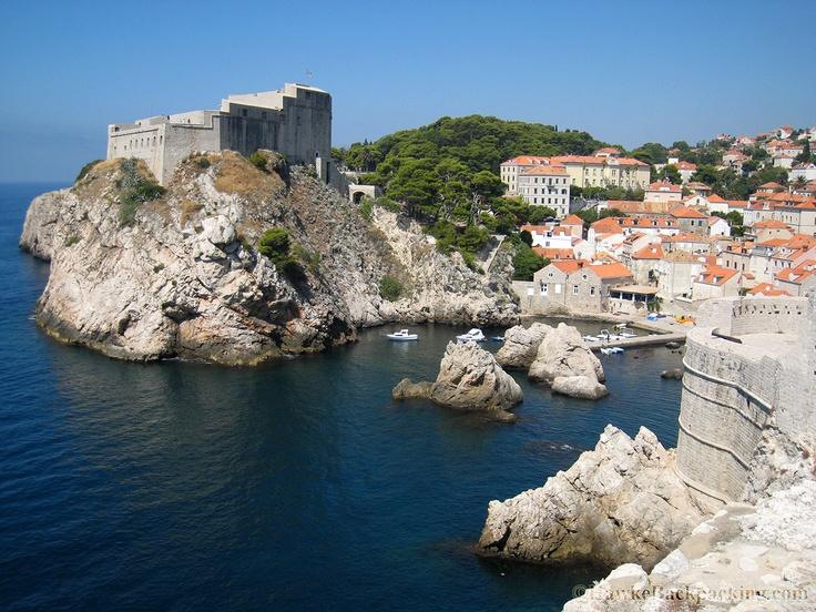 Fort Lovrijenac on the hill.  Dubrovnik, Croatia