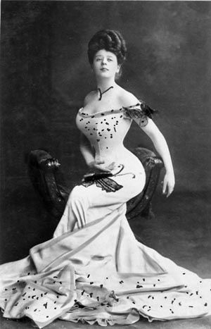 """Camille Clifford~the original """"Gibson Girl."""" A Gibson Girl was the personification of the feminine ideal of beauty portrayed by the satirical pen-and-ink illustrations of illustrator Charles Dana Gibson"""