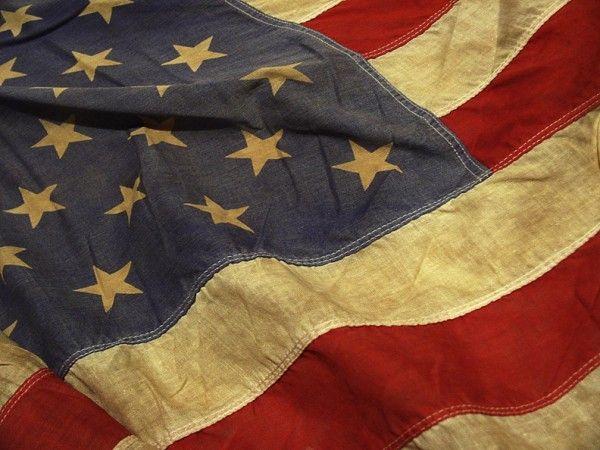 Tobi Fairley American Flag antique