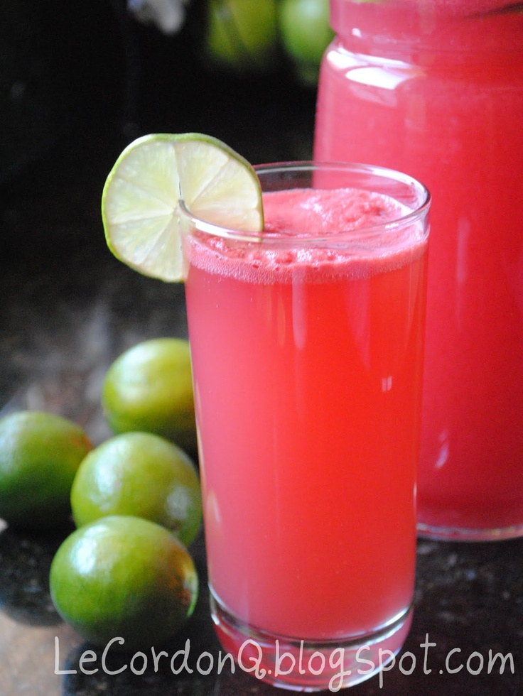 ice watermelon juice with ginger and lemongrass agua de jamaica ...