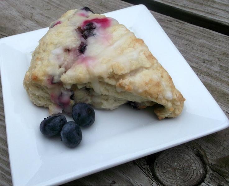 Buttermilk-Blueberry Scones with Lemon Glaze