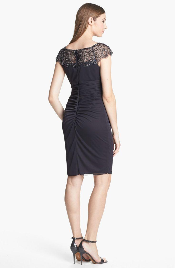 Dresses xscape embellished ruched sheath dress for women fosoe