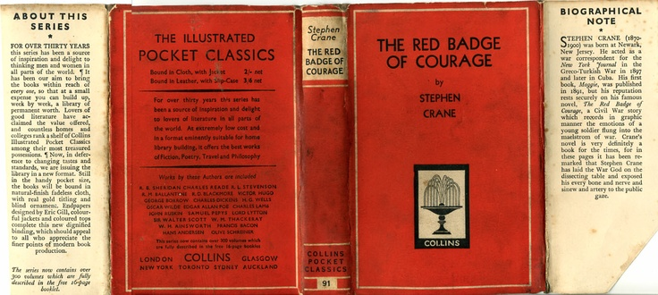 new essays on the red badge of courage Free essay: the red badge of courage by stephan crane traces the effects of war on a union soldier, henry fleming, from his dreams of soldiering, to his.