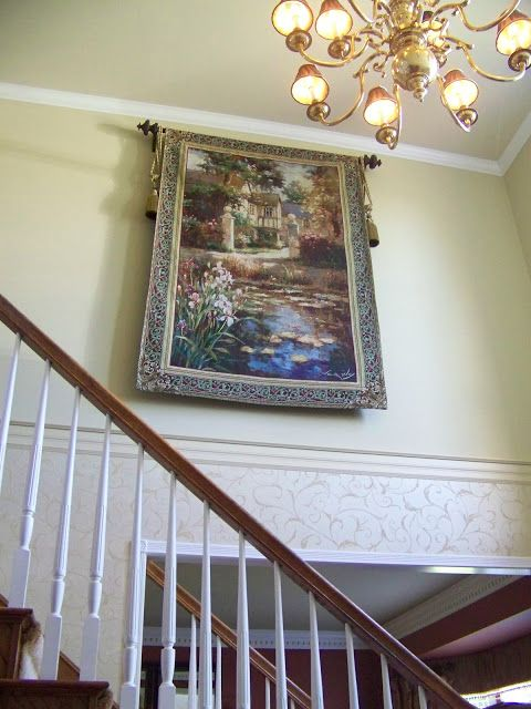 Creations from my heart two story foyer decorating for 2 story foyer decorating pictures