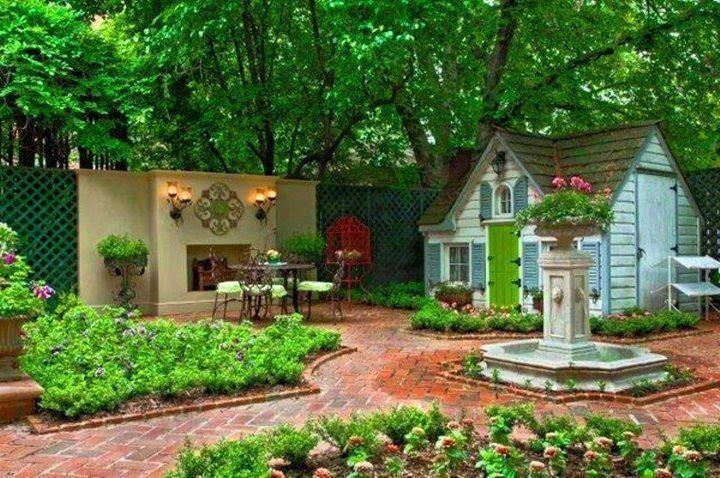 backyard cottage favorite places spaces pinterest