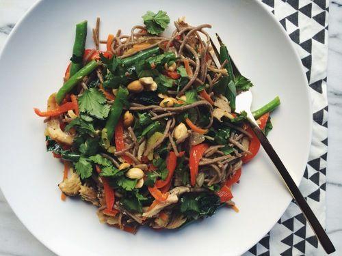 Thai Soba Noodle Bowl | Real Food | Pinterest
