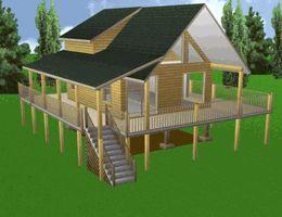 20'x 24' Cabin w/Loft Plans Package, Blueprints, Material List