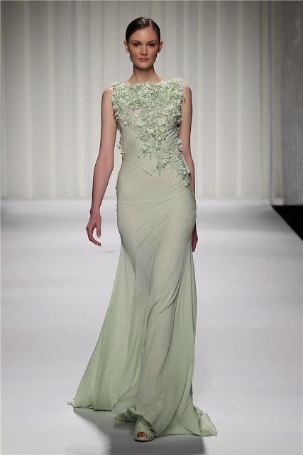 Light green long wedding dress my style pinboard pinterest for Light green wedding dress