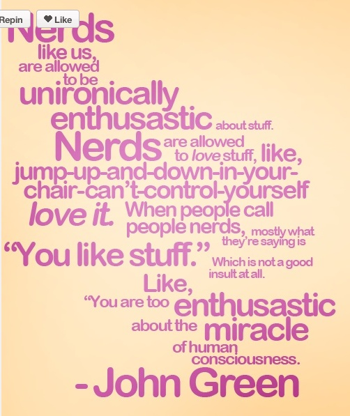 Love, Thank you John Green!