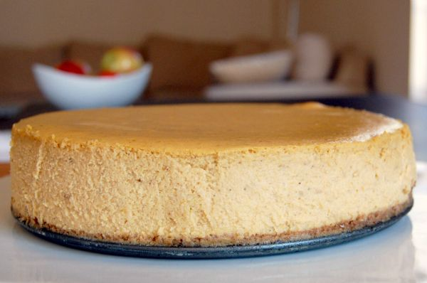 light as air pumpkin and spiced cheesecake; the secret is to whip some ...