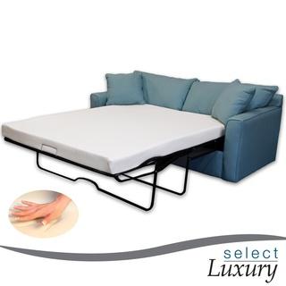Select Luxury Reversible 4 Inch Twin Size Foam Sofa Bed Sleeper