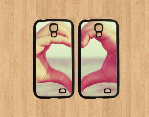 Hand Heart Best Friends For Samsung Galaxy S4 Case Soft Rubber - Set ...