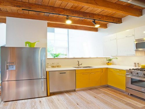 yellow paint kitchen cabinets minimalist  For the Home  Pinterest