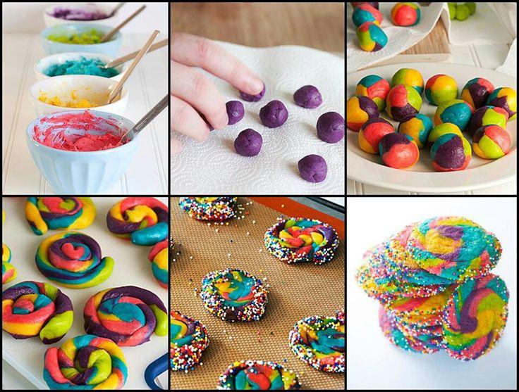 Rainbow pinwheel cookies | Baking for Afternoon Tea | Pinterest
