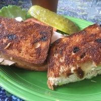 ... Bread, White Vermont Cheddar, Turkey and Sliced green apples