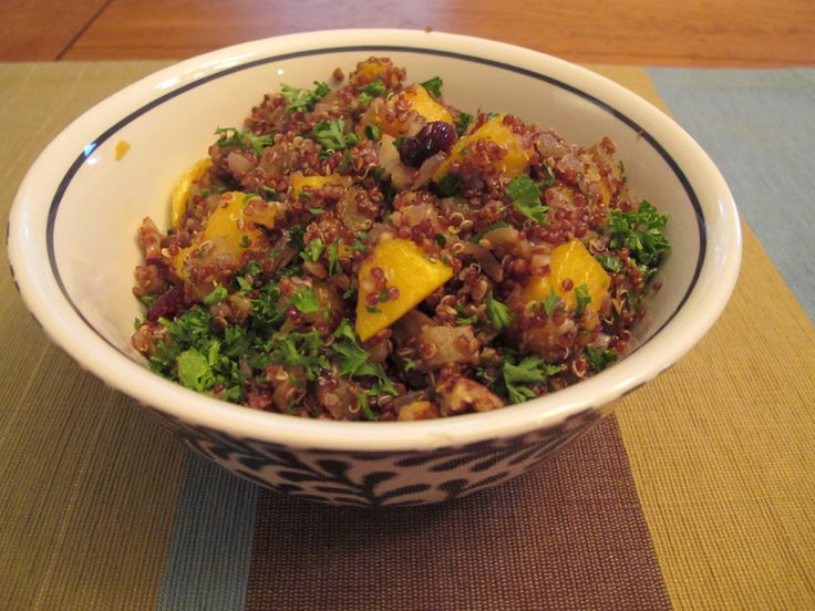 Red Quinoa with Roasted Butternut Squash, Eggplant, Cranberries and ...