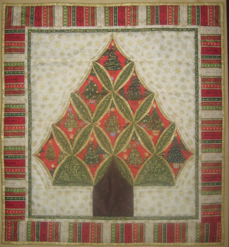 My love for cathedral window quilts quilts cathedral for Window quilt