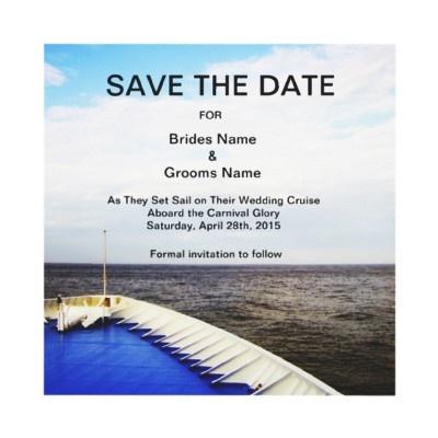 Voyage of Love l Cruise Ship/Destination Wedding Invitations from Zazzle.com