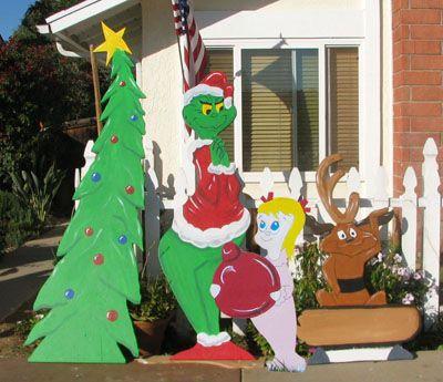 Wood christmas yard decoration patterns christmas for Yard cutouts