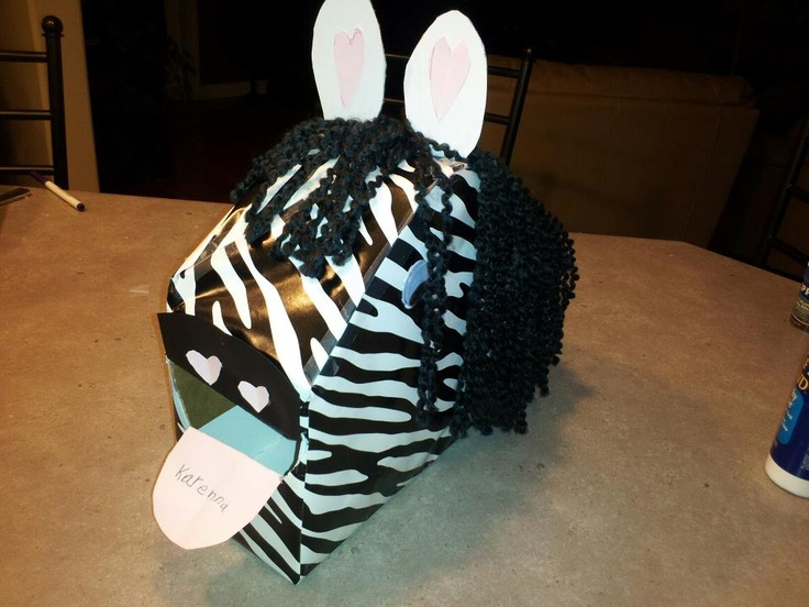 zebra valentines day box