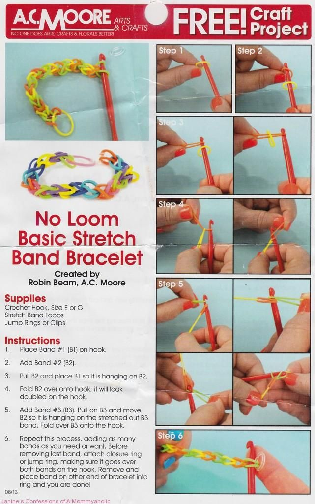 Rubber Band Bracelets: The Latest Kids Craze via Janine's Confessions of a Mommyaholic. #bracelets #consumerinfo #crafts #diy #tutorial #trends #rubberbands