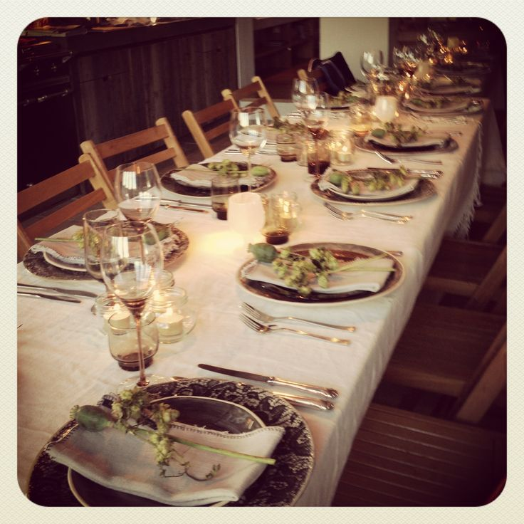 Table Setting For Dinner Party : Table setting  Dinner party  Pinterest