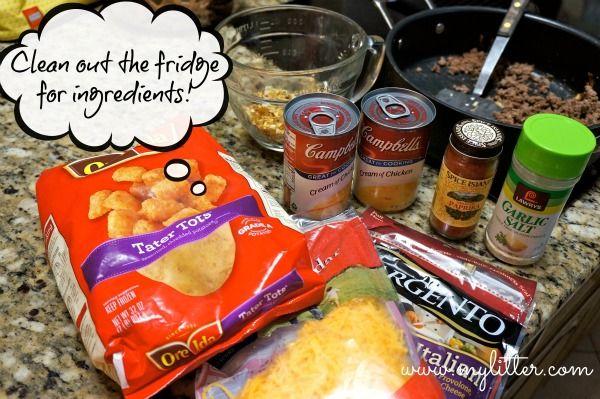 tater tot casserole 2 | food | Pinterest
