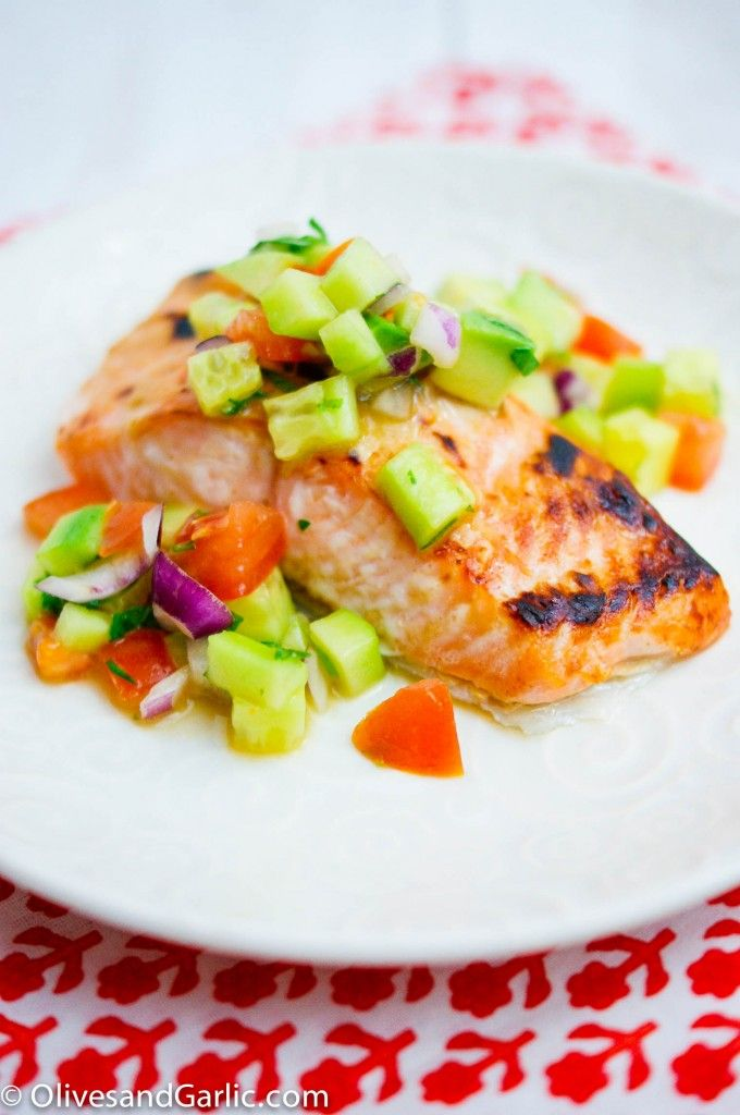 Dijon Salmon with Cucumber Avocado Salsa | Comfort Food - Main Dishes ...