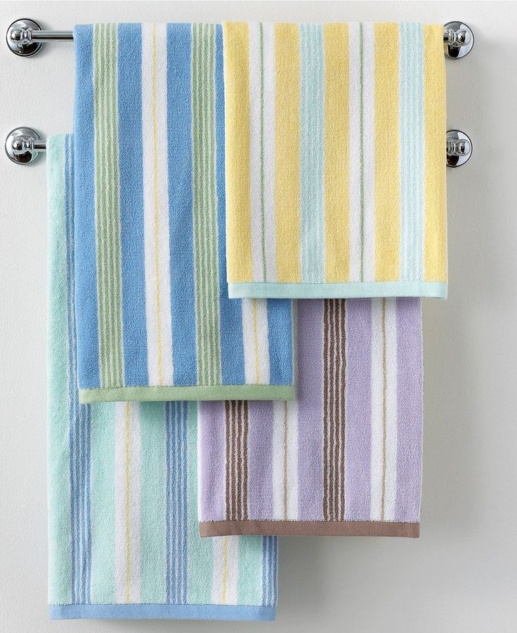 Closeout Martha Stewart Collection Plush Stripe Bath Towel Collection