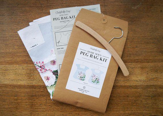Sew Your Own Peg Bag Kit - Magnolia