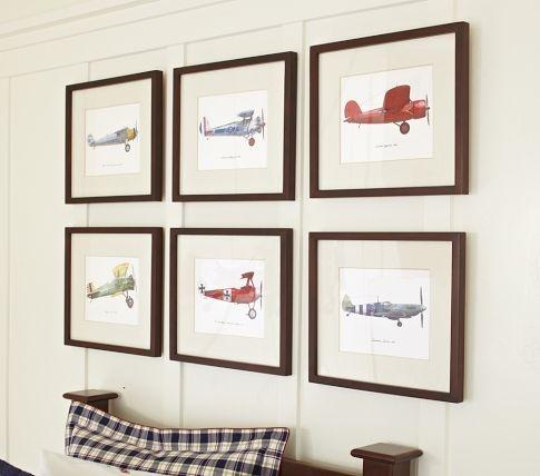 Framed Vintage Plane Art | Kid's Room