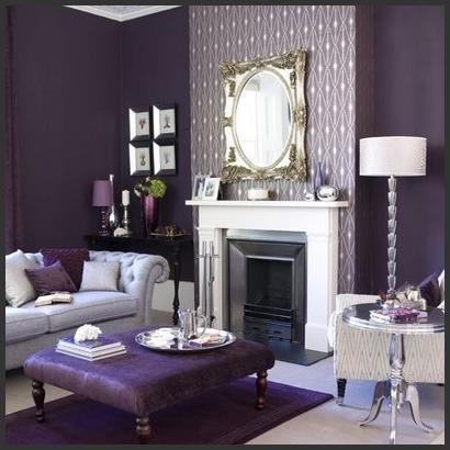 Purple Gray W White Accents Trim Home Decor Pinterest