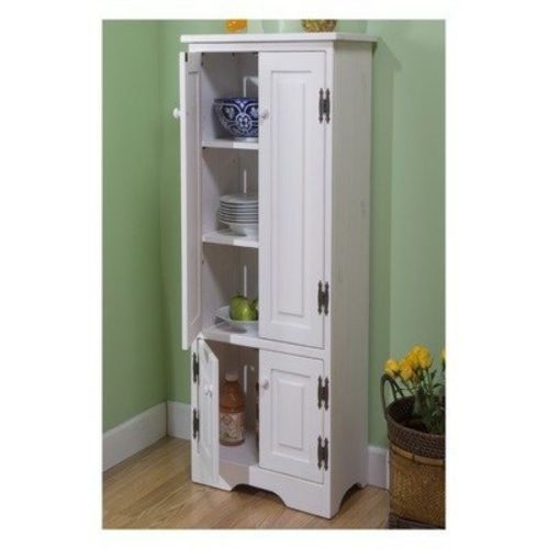Extra Tall Pine Cabinet Storage Kitchen Bathroom Cupboard