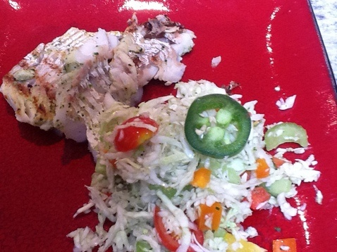 Grilled Haddock with Mexican Slaw | Low Carb/Paleo | Pinterest