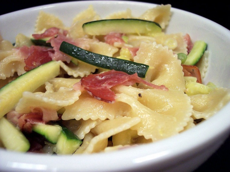 Farfalle with Zucchini and Prosciutto