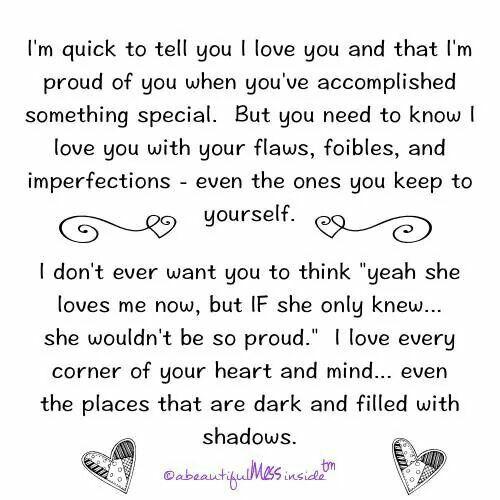 I Love You Regardless Quotes : Regardless ... I love you!