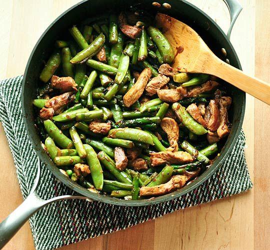 Pork Stir-Fry with Asparagus and Sugar Snap Peas | Recipe