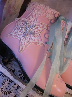 pink and aqua ice skates!