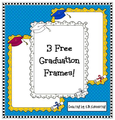 Cute Graduation Frames! FREE!!! | End of year and Memory Book ideas