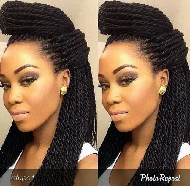 shaved side hairstyles men : Senegalese Twist Hair Ideas Pinterest Pictures