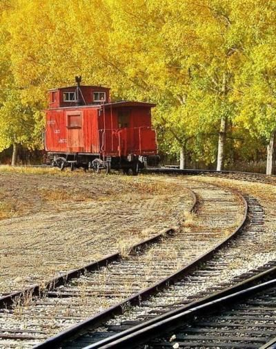 lonely red caboose