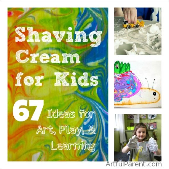 Shaving Cream for Kids :: 67 Ideas for Art, Play and Learning