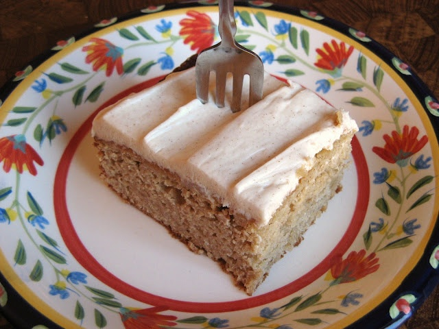 Spiced Applesauce Cake. The applesauce makes it seem like you're being ...