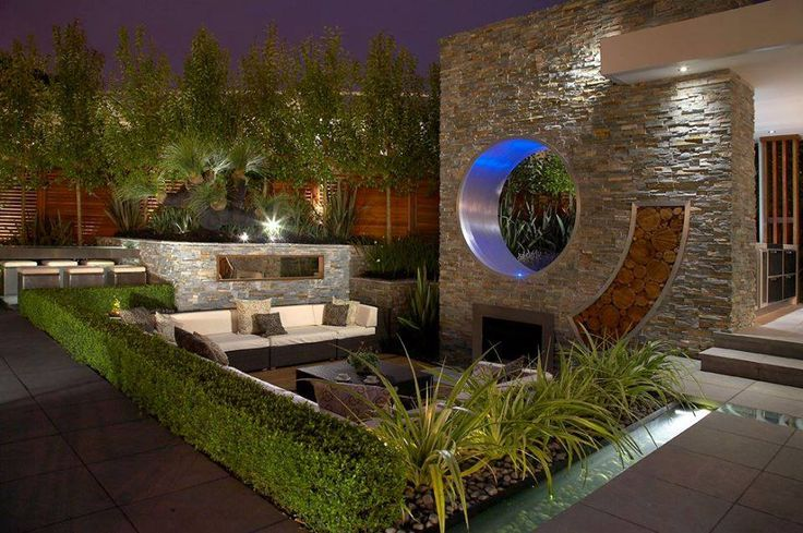 Elevation & Boundary Walls | Contemporary Gardens | Pinterest