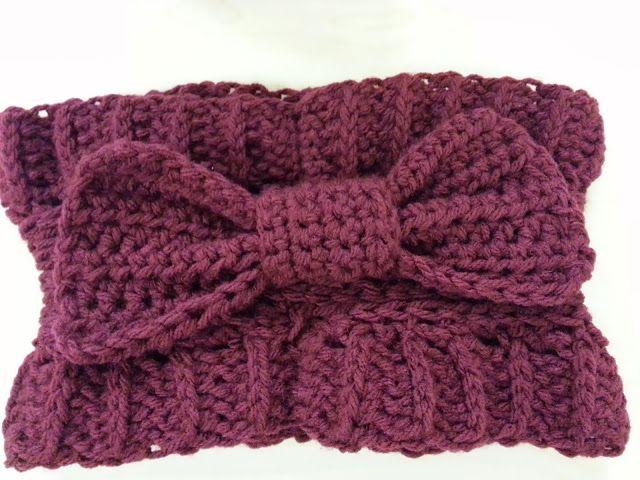 Free Patterns Crochet Ear Warmers : Crochet Bow Ear Warmer: Free Pattern Crochet?? Okay ...