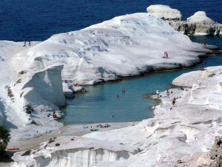 Sarakiniko beach, Milos island Greece  Travel... travel ...