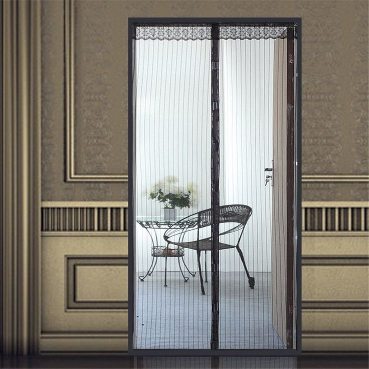Screen door curtain