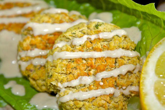 Baked Falafel + Yogurt Tahini Sauce | Grain free meals | Pinterest