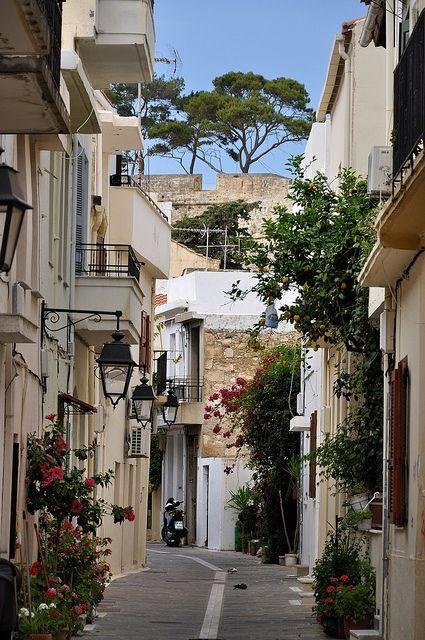 streets of crete, greece