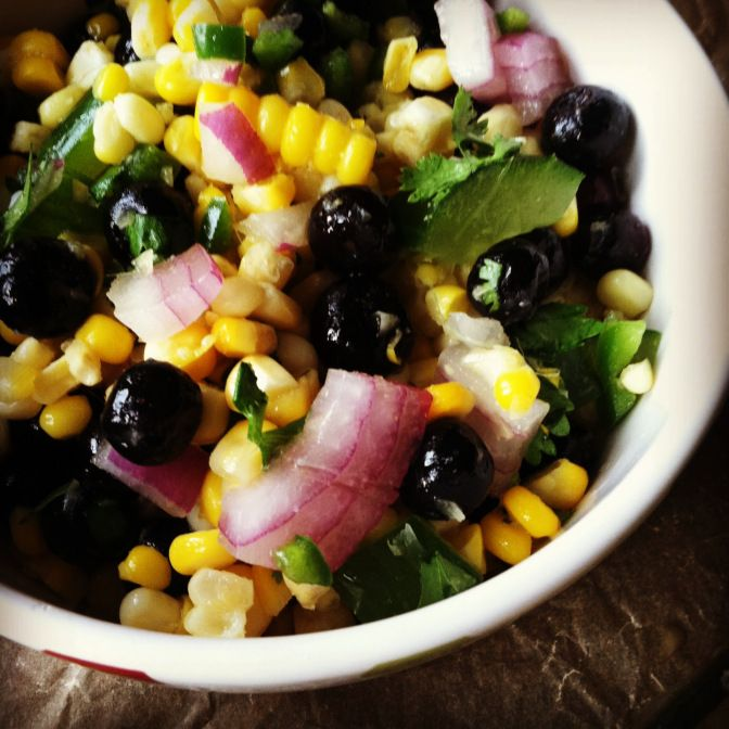 Blueberry and Corn Salad